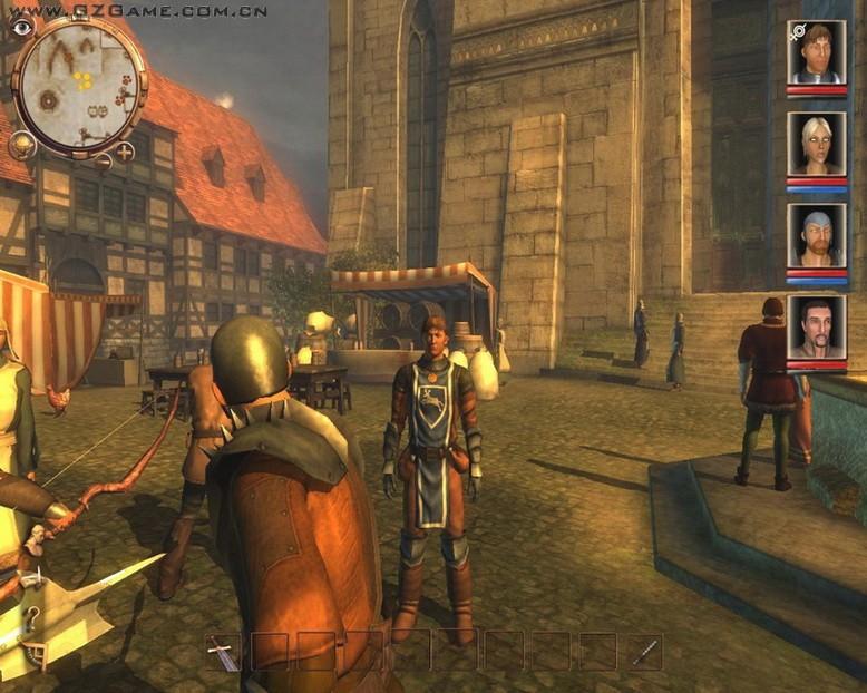 战斗方式和《柏德之门》一样,玩家必须和同伴组队作战才...